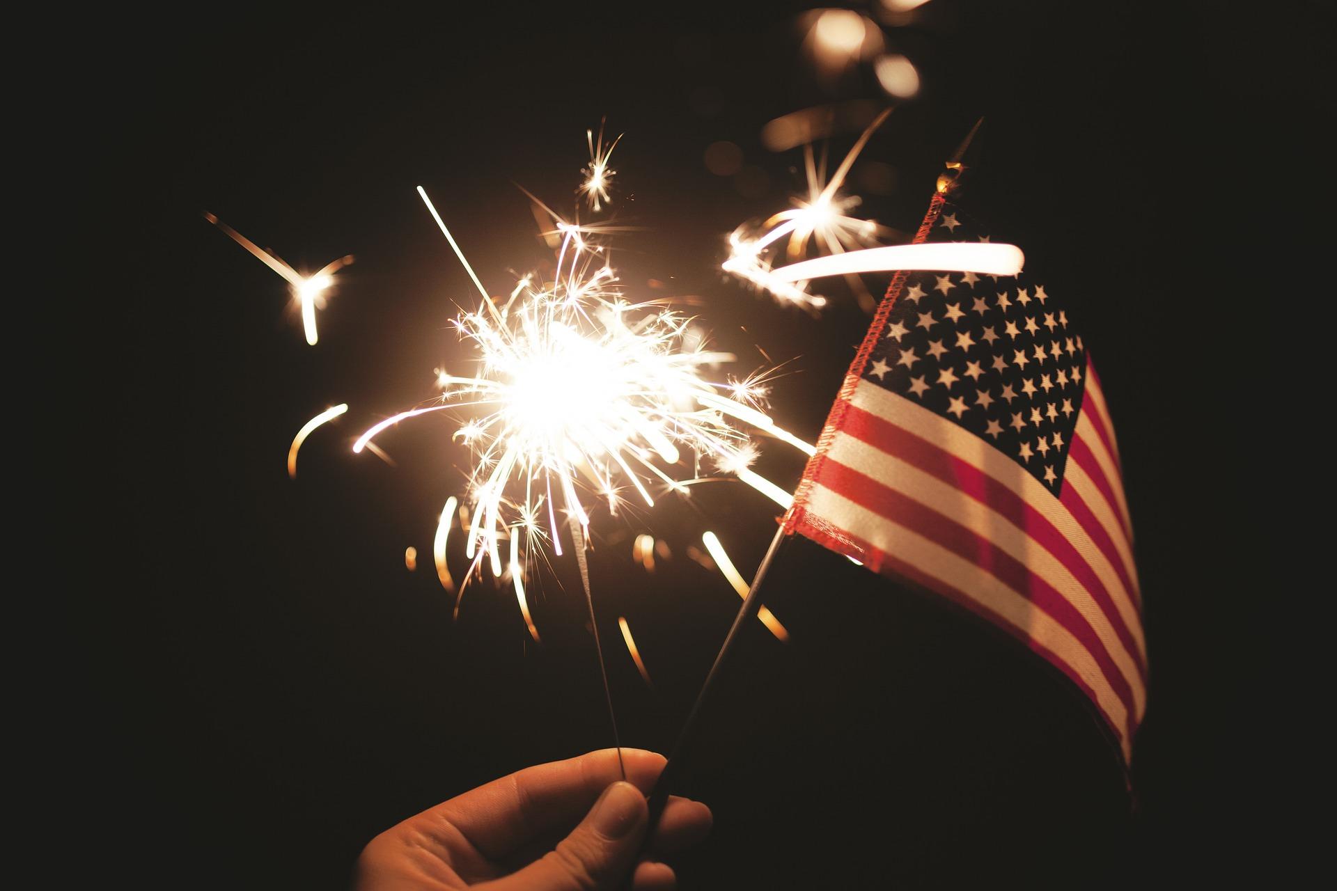 American Flag & Firework Sparkler